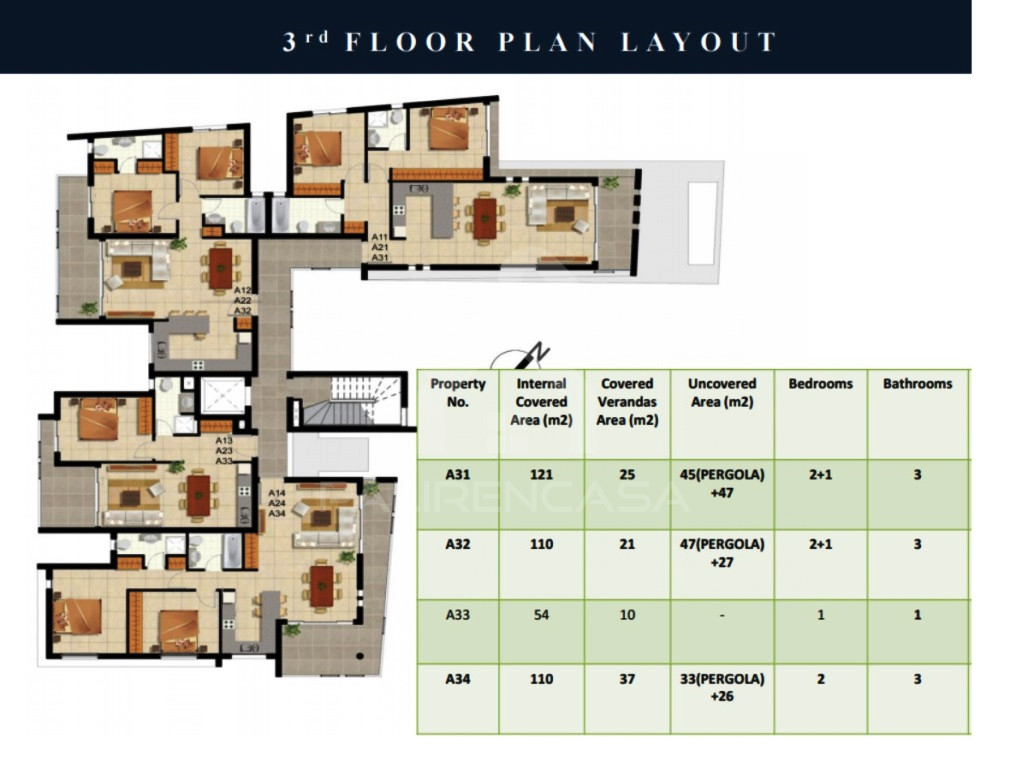 3-Bedroom Penthouse in Latsia